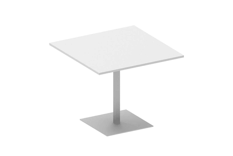 hali Büromöbel, Quadrattisch, Besprechungstisch, Tisch, Säulen, Rundfuß, Meeting, Besprechung, Kundentermin,