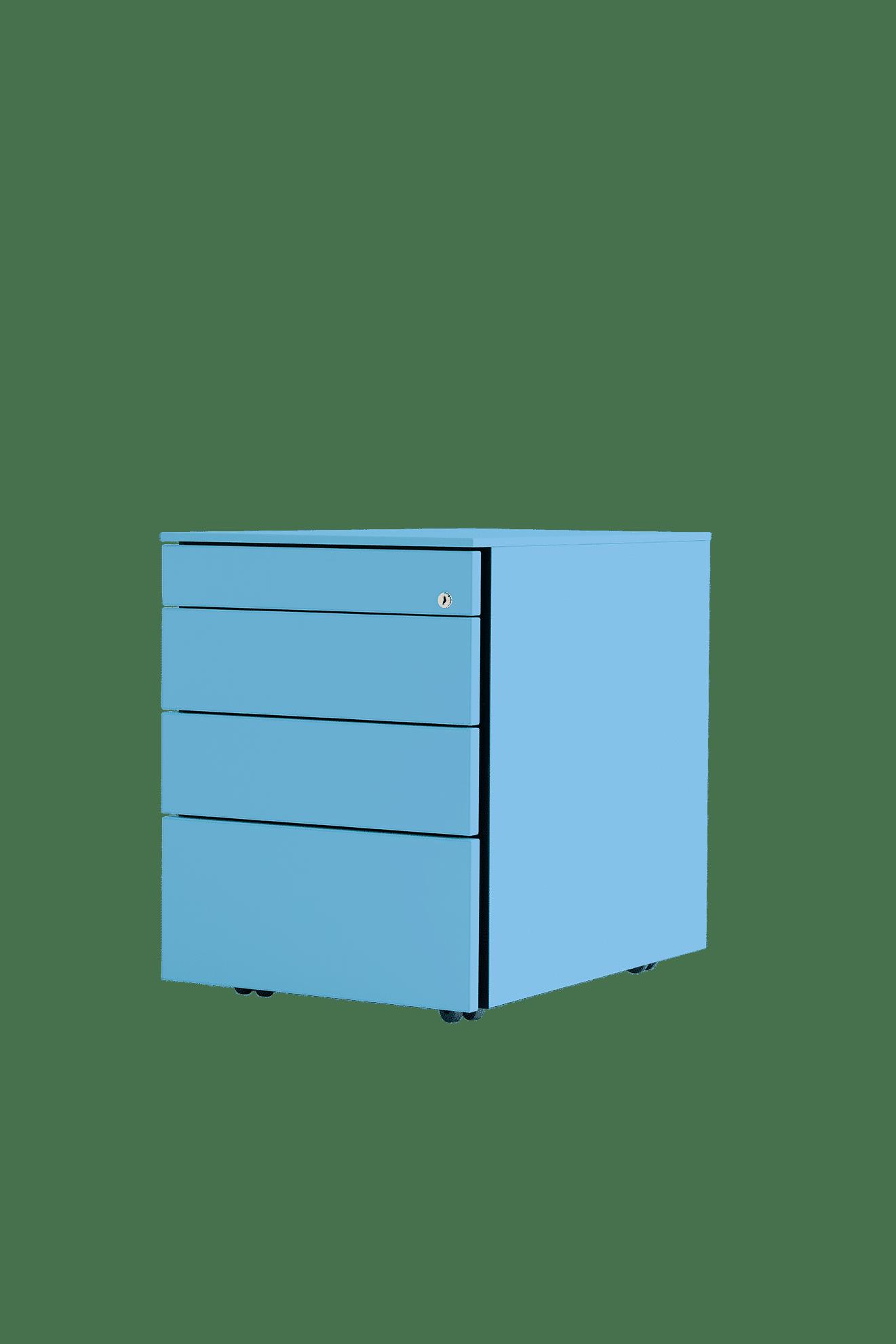 Rollcontainer, Stauraum, mobil, für Sitz- Steh Tisch