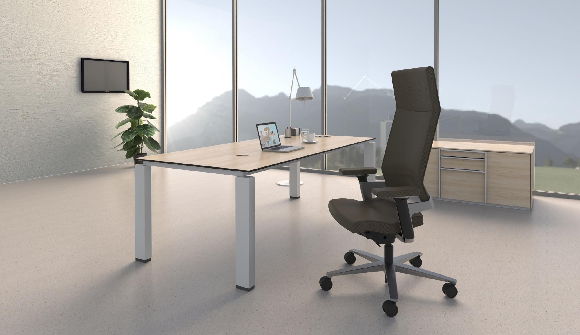 hali Büromöbel, s800, Rechtecktisch, system 800, Bürorabeitstisch, hochwertig, Qualität, Chefschreibtisch, Führungsposition, Schreibtisch, Design