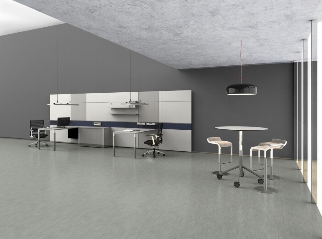 hali Büromöbel, pre wall 50, pw50, Vorsatzwand, Vorschsatzschale, Board, Table, Tisch, box, Rolloschrank, flex talk, Besprechungstisch,