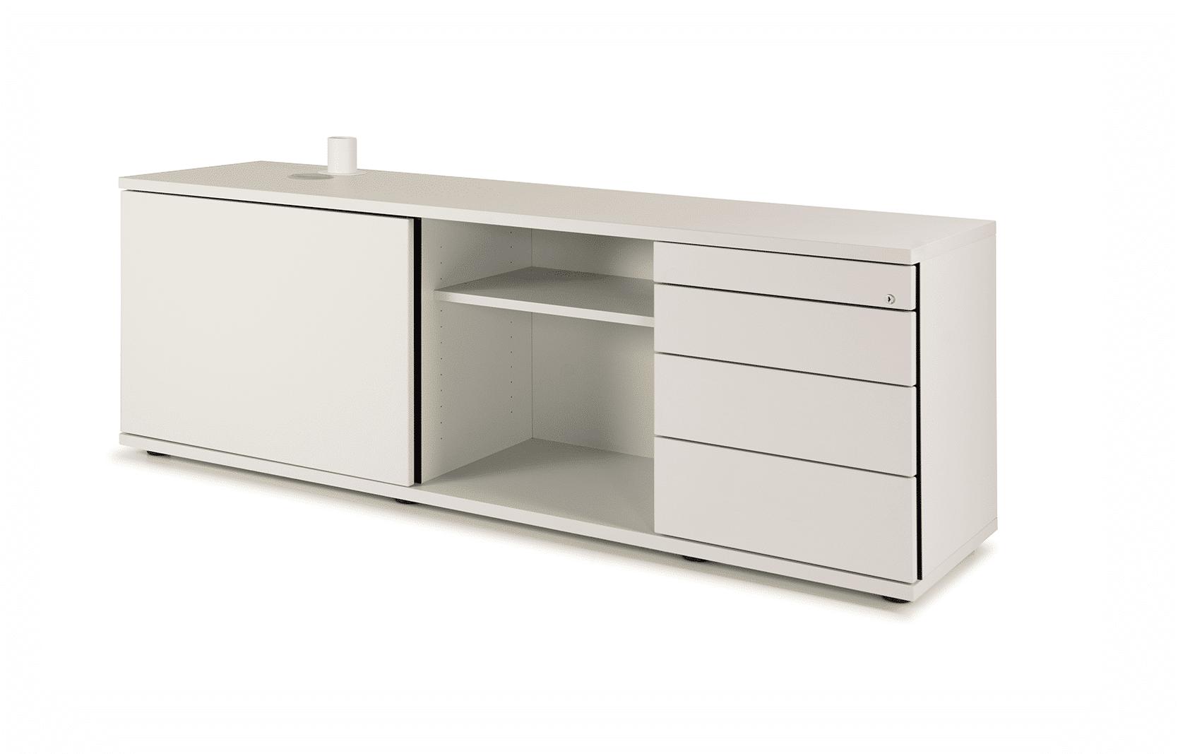 hali Büromöbel, Sideboard, SB03_SE, Stauraum, Tisch, Kombination, seitlicher Eingriff