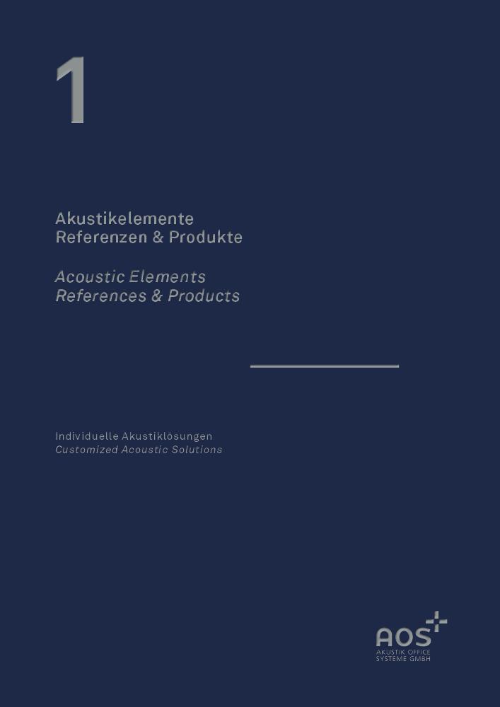 Titelblatt AOS Broschüre Akustikelemente