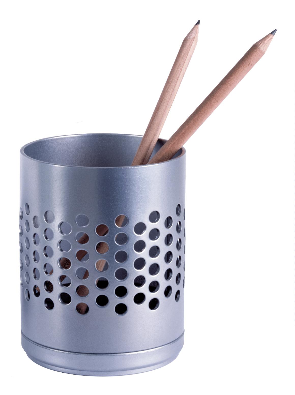 Stifteköcher, Rexite, Centobuchi, Organisation, Farben: Weiß, Schwarz, Aluminium