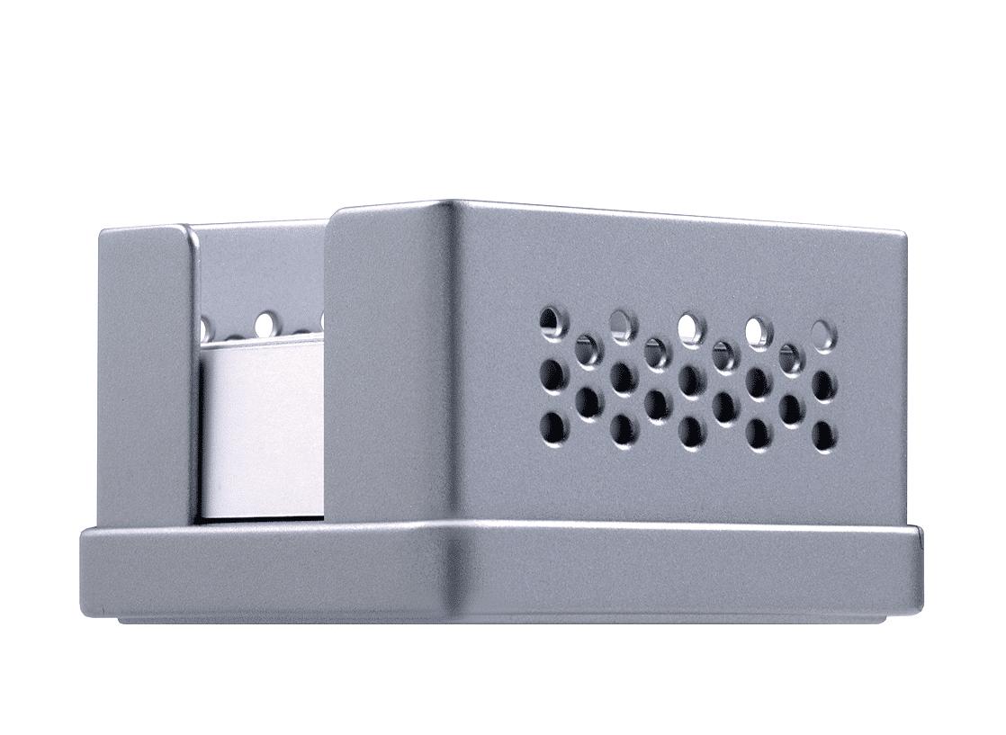 Zettelbox, Rexite, Memo, Organisation, Farben: Weiß, Schwarz, Aluminium