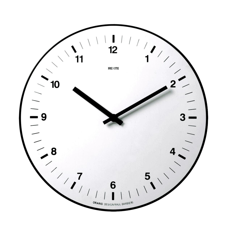 Wanduhr, Rexite, Orario, Ziffern Schwarz, Ziffernblatt Weiß, Batterie