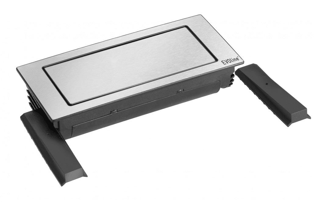 hali Büromöbel, Backflip, Kabelmanagement, Verkabelung, Kabel, Einbau, Tischplatte