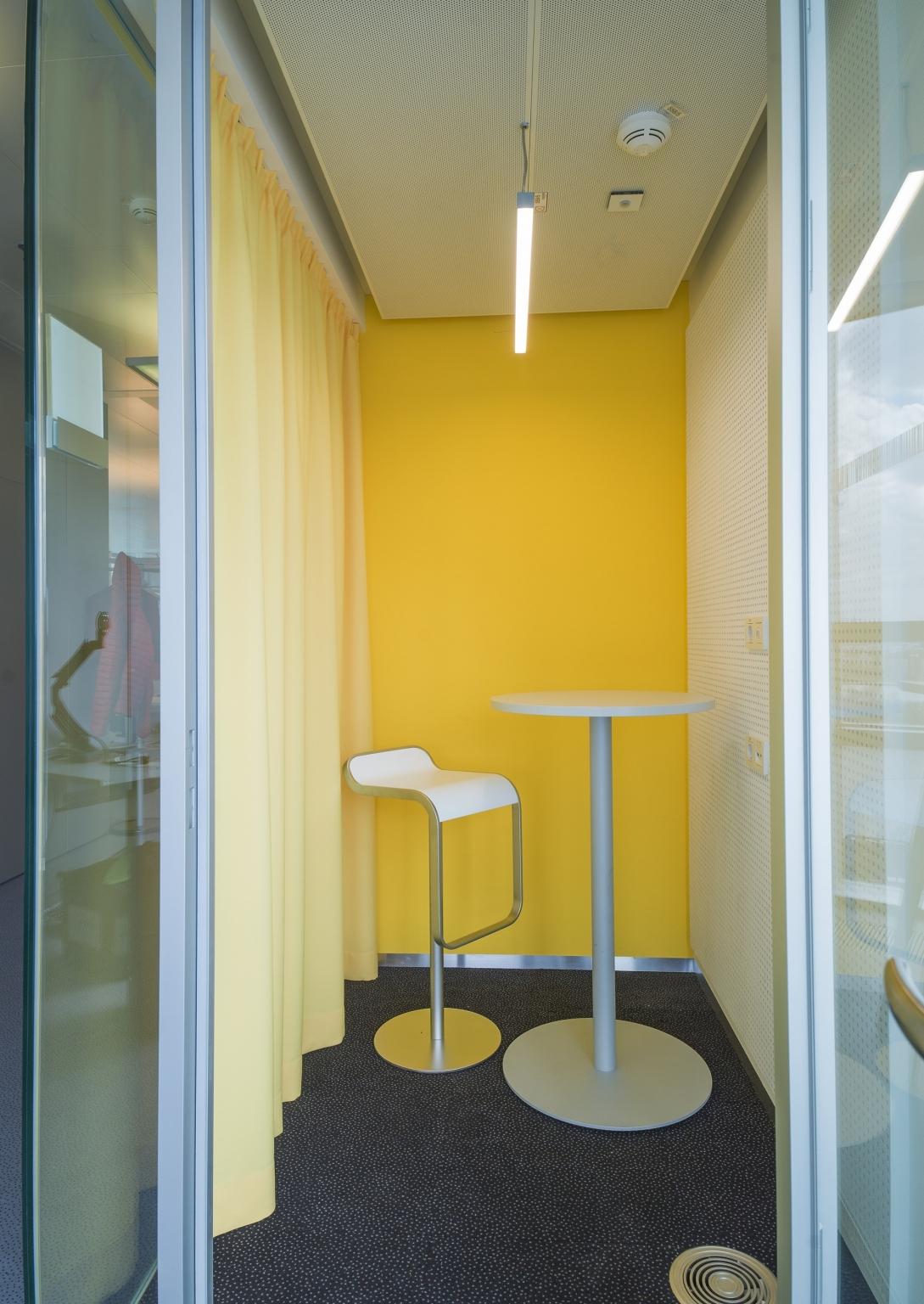 Strabag Wien Meetingzone in gelb.