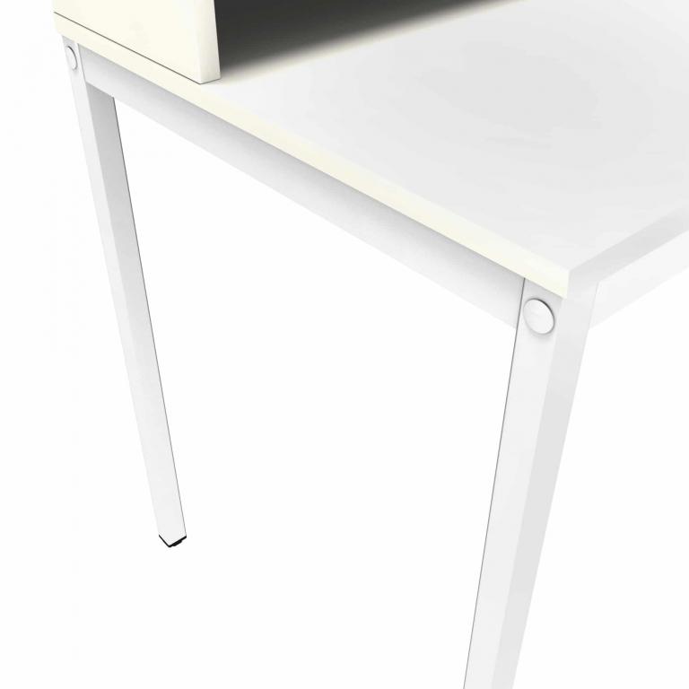 Tischdetail von einem weißen Tisch für ein Homeoffice - Sekretär sk 60