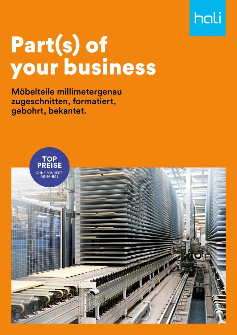 titelblatt Möbelteile Broschüre.