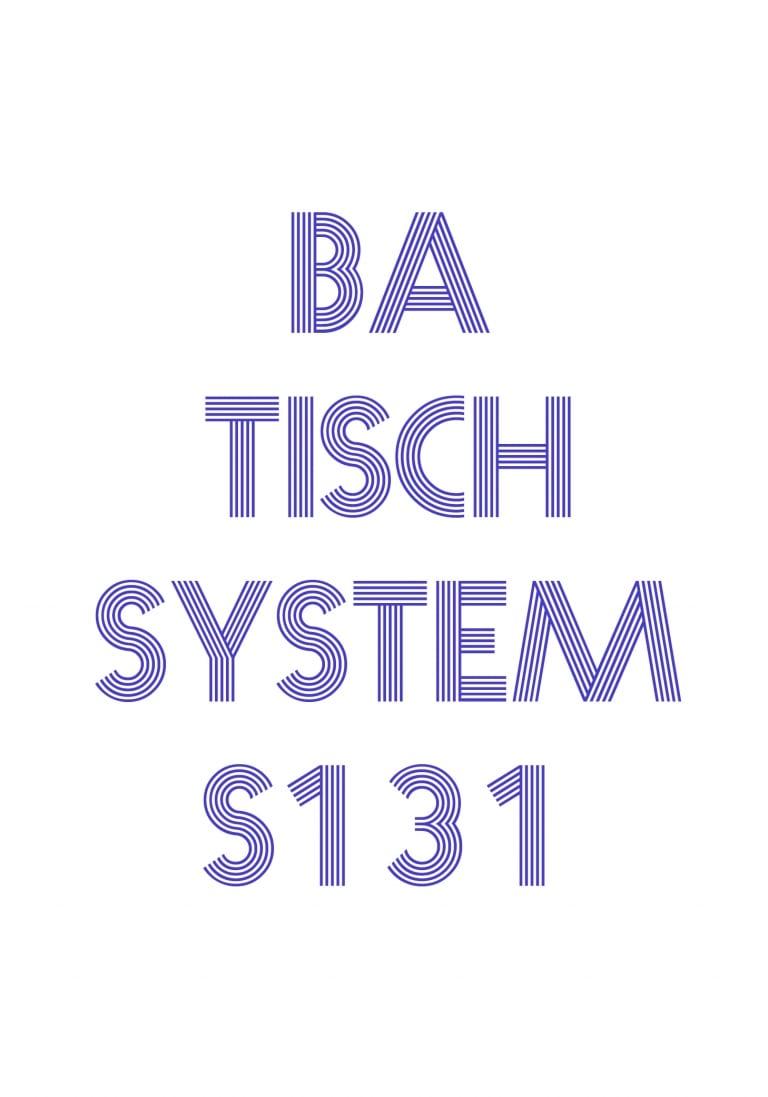 Titelblatt der Bedienungsanleitung für Tischsystem 131.